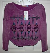 NWT Girls Vintage Havana $62 Long-Sleeve Purple Multi-Color Shirt Size XL