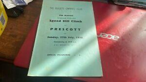 PRESCOTT---SPEED HILL CLIMB---PROGRAMME---27TH JULY 1958