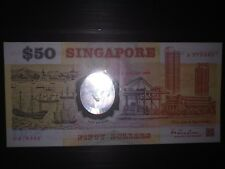 Singapore Commemorative $50 A prefix note