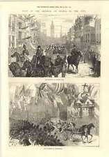 1874 DELLO ZAR visita Processione Charing Cross Fleet Street