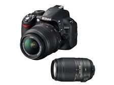 Nikon D D3100 14.2MP Digital SLR Camera - Black (Kit w/ 18-55mm and 55-300mm...