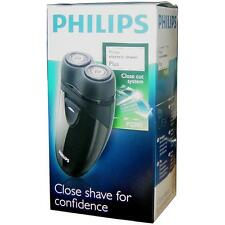 Philips PQ203 Battery Operated Twin Floating Head Mens Foil Shaver - Black - New