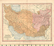 c1880 MAP ~ PERSIA AFGHANISTAN BELOOCHISTAN ~