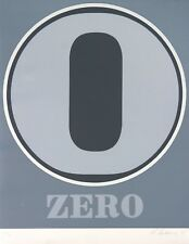 Robert Indiana - Number Zero large format signed and numbered by INDIANA MINT CD