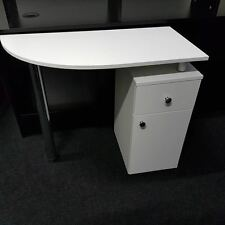 WHITE Manicure  Table ,Station Nail Bar Technicians  ,NEW ,FREE DELIVERY