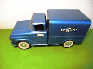 Vintage TONKA TOYS # 01 TONKA SERVICE Mound, Minnesota Blue Truck Nice Paint!