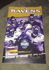 12/28/08 Baltimore Ravens Report Gameday Program - Ravens Vs Jaguars
