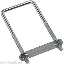 "5-Steel Plated 3/8"" Dia X 3"" Wide X 7"" Long Pipe Square U Clamp U Bolt N222372"