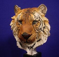 "9-3/4"" Tall ~ LARGE ~ India Tiger ~ Bust ~ FIGURINE ~ Statue"