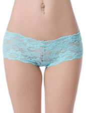 Ladies 6 Pack / Multipack Lace Detail High Leg Briefs / Knickers