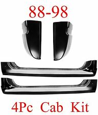 88 98 Chevy GMC 4Pc Extended Rocker & Cab Corner Kit Truck 1.2MM Thick Silverado