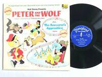 WALT DISNEY Peter And The Wolf / Sorcerer's Apprentice Disneyland Vinyl LP VG+
