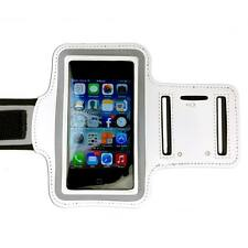 White Sports Armband Running Gym Exercise Case for Apple iPhone SE 5S 5C 5 4S
