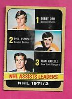 1972-73 OPC # 283 ESPOSITO + ORR + RATELLE   LD  HIGH # VG CARD (INV# C3062)
