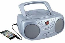 Compact CD Player Boombox with AM/FM Radio - Silver