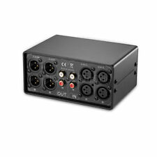 2-IN-2-OUT XLR Balanced / unbalanced Audio Converter Selector Passive Preamp MC3