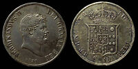 pci1056) Napoli Due Sicilie Ferdinando II piastra 1857 TONED !!!