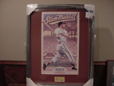 GORGEOUS Stan Musial 24 x 31 Framed Autographed Print, St. Louis Cardinals, NICE