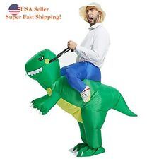 DH Halloween Inflatable Ride Dinosaur T-Rex Adult Party Role Play Fancy Costume