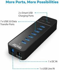 7 Port USB 3.0 Multi High Speed HUB Splitter Expansion Desktop PC Laptop Adapter