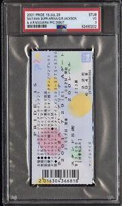 2001 PRIDE 15 Ticket PSA 3-Quinton Rampage Jackson/Big NOG Debut's~Legends~POP 1