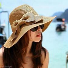 Großer Bowknot Breiten Rand Sommer Strand Freizeit Strohhut Mode Damen Sonnenhut