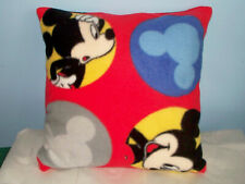 NEW MICKEY MOUSE FLEECE PILLOW  L@@K RED BLACK