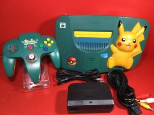 Nintendo 64 Console Pikachu Amazing blue green Yellow Limited