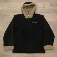 Cowgirl Hardware USA Womens Black Fleece Zip Jacket Polyester Sherpa Lined Sz L
