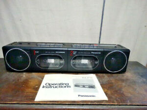 Panasonic RX-F11 AM-FM-FM Stereo Double Cassette Tape Player Recorder
