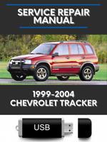Chevrolet Tracker 1999-2004 Factory Service Repair Manual USB
