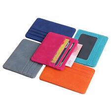 Small Mini Travel Lizard Pattern Leather Bank Business Id Card Holder Men Women
