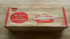 Sutcliffe Tin Wind-up Sea Wolf Submarine Original Box