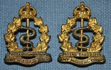 Pair of Wwi Royal Canadian Army Medical Corps Officer's Insignia