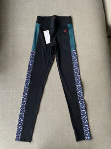 Laain Activewear Leggings Black / Leopard Animal Print  XS