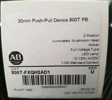 Allen Bradley AB 800T-FXQH2AD1, Ser U 2 position Amber LED pushbutton NIB