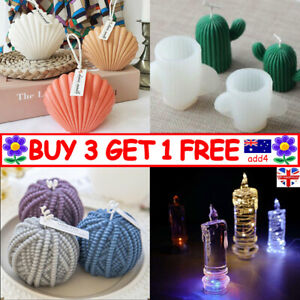 DIY Candles Mould Soy Wax Candle Mold Aromatherapy Candle 3D Silicone Moulds TAU
