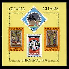 OPC 1974 Ghana Christmas Souvenir Sheet Sc#548 Mint Never Hinged