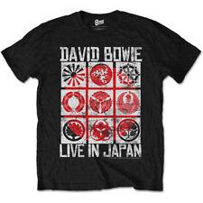 Nero X-large Rockoff Trade David Bowie Live in Japan T-shirt Uomo
