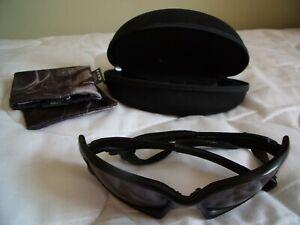 Oakley split jacket Black frame Black lenses head band , case and pouch.