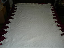 #178 Beautiful Vintage Handmade Coverlet