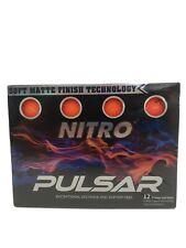 Nitro Pulsar 12 Pack Box Golf Balls, Orange, One Size - New