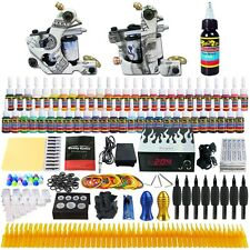 Tattoo Kits 2 Tattoo Machine Guns Power Supply Needle Grips Ink Set TK252