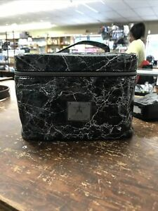 Jeffree Star Black Marble Cremated Makeup Bag Travel Bag Traincase NEW WITH TAGS