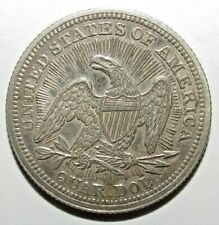 Seated Liberty Quarters 1853  Silver