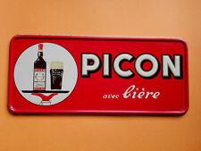 PICON  avec  BIERE -   Ancienne  plaque    an. 1950 - 60      TBE