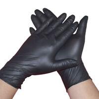 100Pcs Rubber Comfortable Disposable Mechanic Nitrile Gloves Medical Exam Black