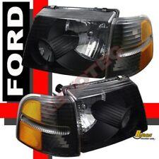 02-05 Ford Explorer 4 Door Black Headlights & Corner Signal Lights RH + LH