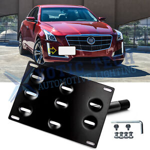 Front Bumper Tow Hook License Plate Mounting Bracket Holder For Cadillac CTS