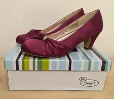 Sin duda Zapatos De Las Señoras, tacón medio/bajo, púrpura Raso, UK8, KKH3, Boda